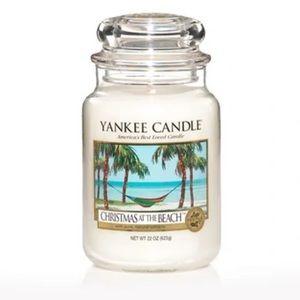 2/$50 YankeeCandle Christmas @ the Beach Large Jar